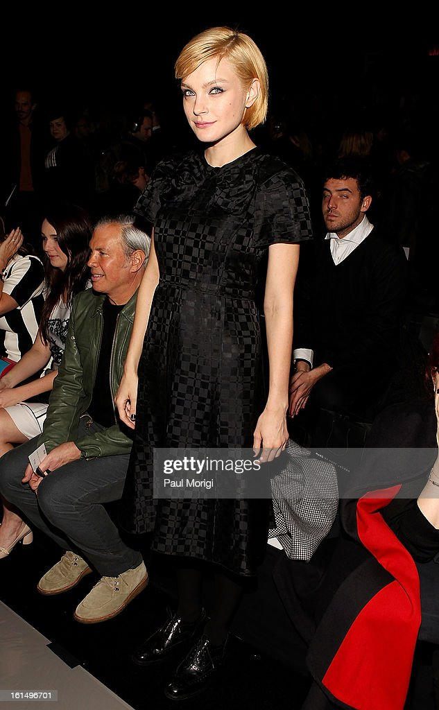 <a gi-track='captionPersonalityLinkClicked' href=/galleries/search?phrase=Jessica+Stam&family=editorial&specificpeople=657570 ng-click='$event.stopPropagation()'>Jessica Stam</a> attends Marc By Marc Jacobs during Fall 2013 Mercedes-Benz Fashion Week at The Theater at Lincoln Center on February 11, 2013 in New York City.
