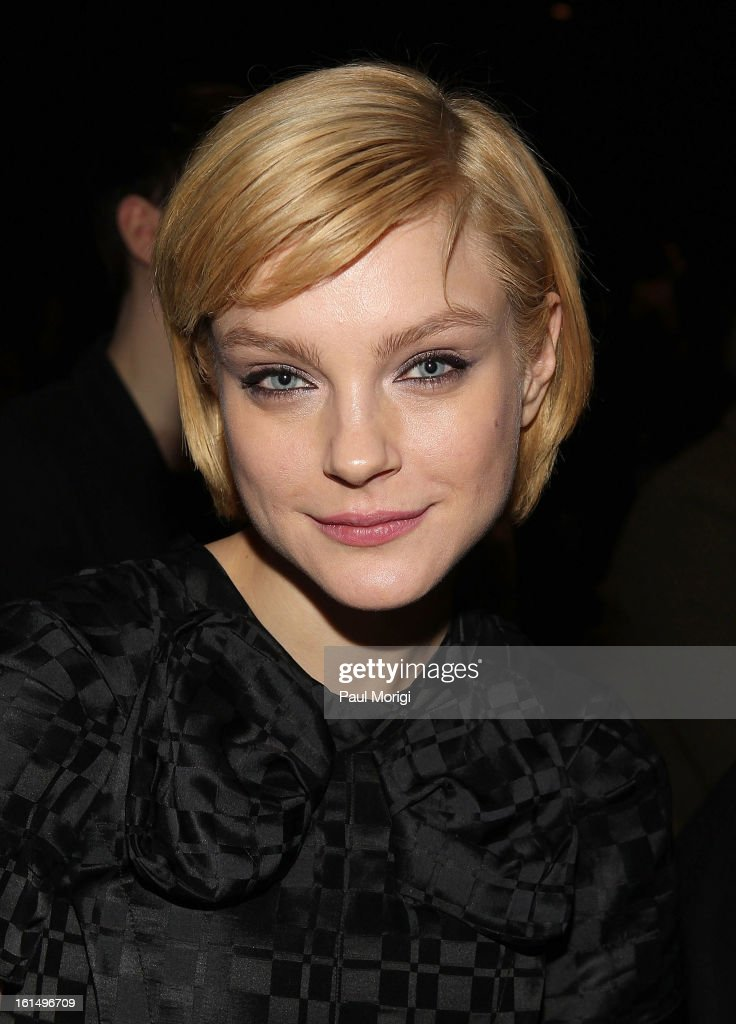 Jessica Stam attends Marc By Marc Jacobs during Fall 2013 Mercedes-Benz Fashion Week at The Theater at Lincoln Center on February 11, 2013 in New York City.