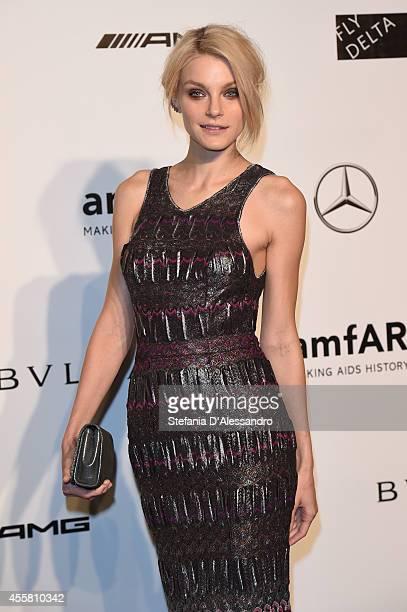 Jessica Stam attends the amfAR Milano 2014 Gala as part of Milan Fashion Week Womenswear Spring/Summer 2015 on September 20 2014 in Milan Italy