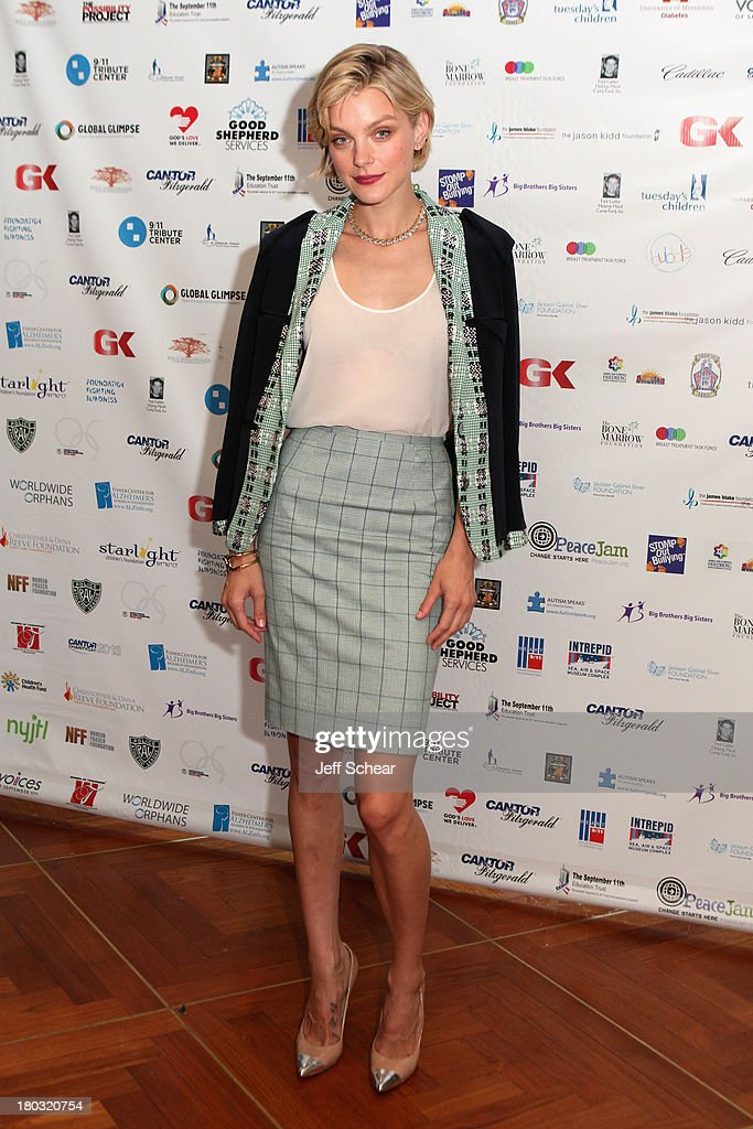 Jessica Stam attends the Annual Charity Day Hosted By Cantor Fitzgerald And BGC at the Cantor Fitzgerald Office on September 11, 2013 in New York, United States.