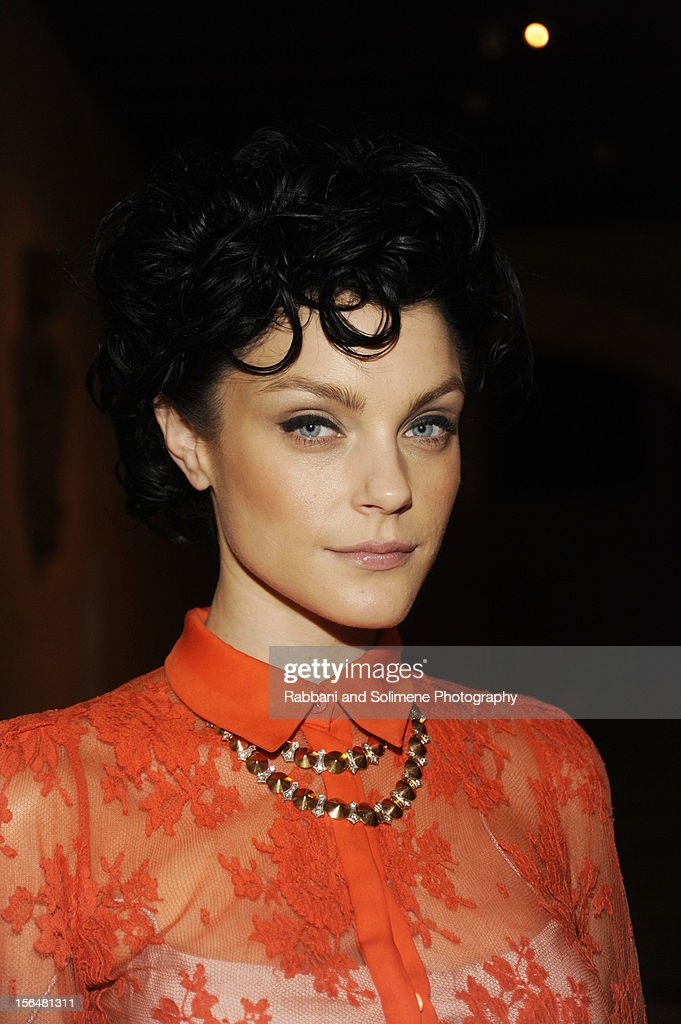 Jessica Stam attends the cocktail party prior to the 2012 Apollo Circle Benefit at the Metropolitan Museum of Art on November 15, 2012 in New York City.