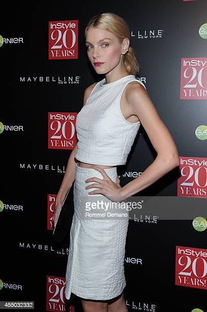 Jessica Stam attends the Instyle Hosts 20th Anniversary Party at Diamond Horseshoe at the Paramount Hotel on September 8 2014 in New York City