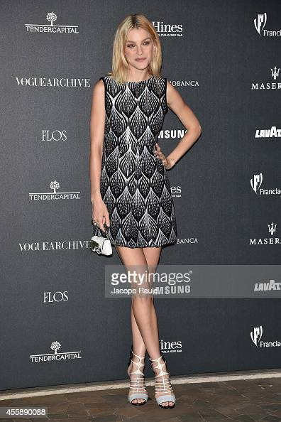 Jessica Stam attends Vogue Italia 50th Anniversary during Milan Fashion Week Womenswear Spring/Summer 2015 on September 21 2014 in Milan Italy