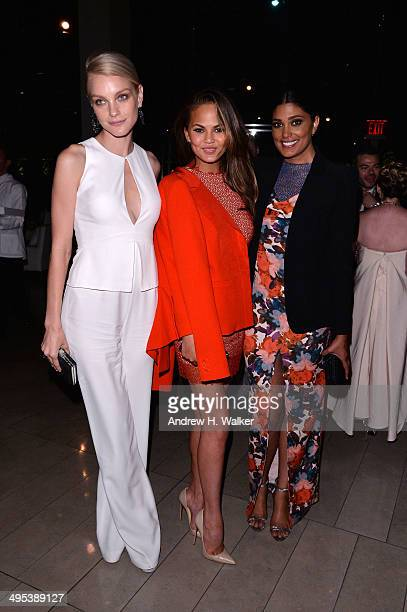 Jessica Stam Chrissy Teigen and Rachel Roy attend the 2014 CFDA Fashion Awards at Alice Tully Hall Lincoln Center on June 2 2014 in New York City