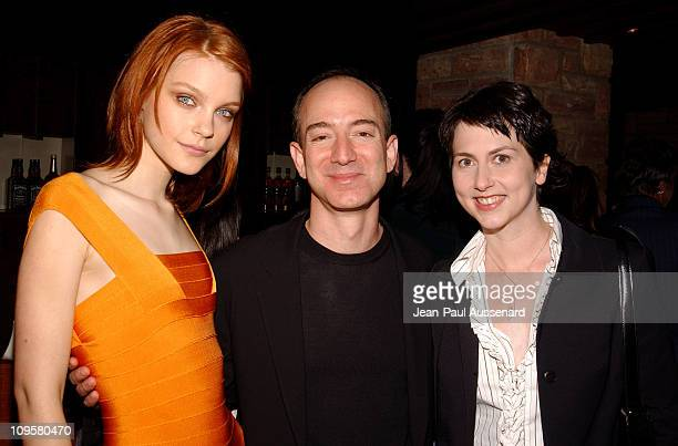 Jessica Stam Jeff Bezos CEO of Amazon and wife Mackenzie