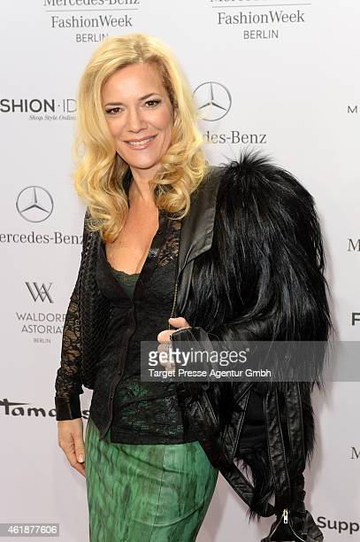 Jessica Stockmann attends the Glaw show during the MercedesBenz Fashion Week Berlin Autumn/Winter 2015/16 at Brandenburg Gate on January 21 2015 in...