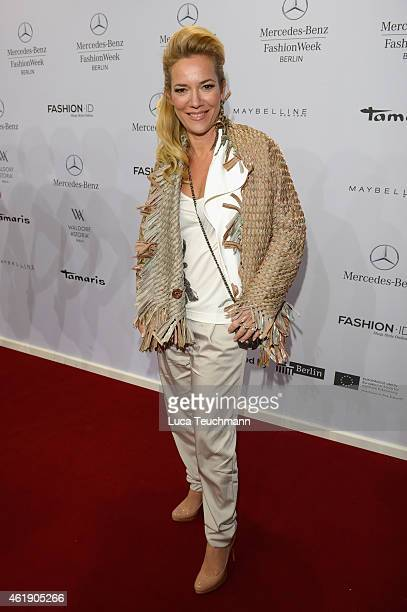 Jessica Stockmann attends the Guido Maria Kretschmer show during the MercedesBenz Fashion Week Berlin Autumn/Winter 2015/16 at Brandenburg Gate on...
