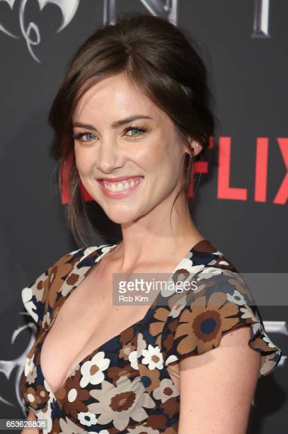Jessica Stroup attends Marvel's 'Iron Fist' New York Screening at AMC Empire 25 Times Square on March 15 2017 in New York City