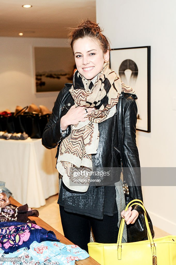 Jessica Stroup attends Theodora And Callum Cocktail Party on March 13, 2013 in Beverly Hills, California.