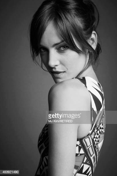 Jessica Stroup poses for a portrait at the Getty Images Portrait Studio powered by Samsung Galaxy at ComicCon International 2014 on July 24 2014 in...