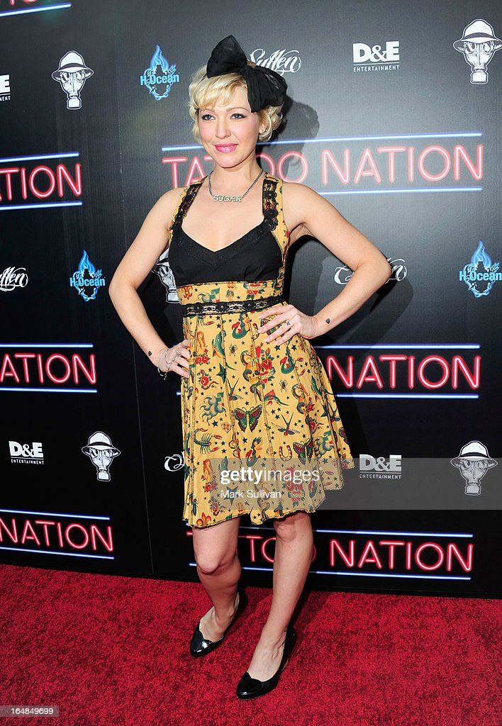 Jessica 'Sugar' Kiper attends the premiere of 'Tattoo Nation' at ArcLight Cinemas on March 28, 2013 in Hollywood, California.