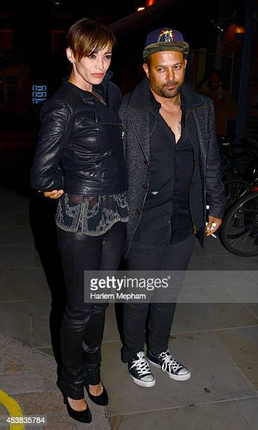 Jessica Sutta and Mams Taylor sighted arriving at the Chiltern Firehouse on August 19 2014 in London England