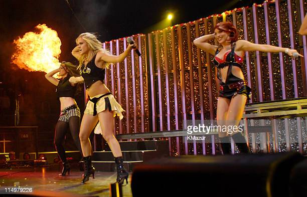 Jessica Sutta Ashley Roberts and Carmit Bachar of The Pussycat Dolls perform 'Don't Cha' 'Beep' 'I Don't Need A Man' 'Stickwitu' 'Wait A Minute' and...