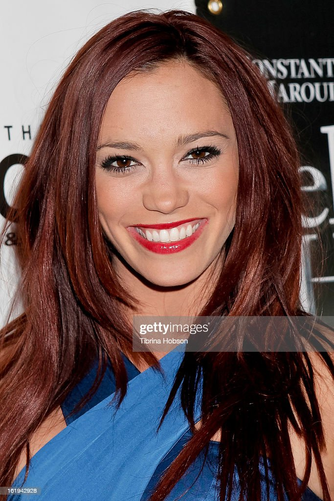 Jessica Sutta attends the 'Jekyll & Hyde' Los Angeles play opening at the Pantages Theatre on February 12, 2013 in Hollywood, California.