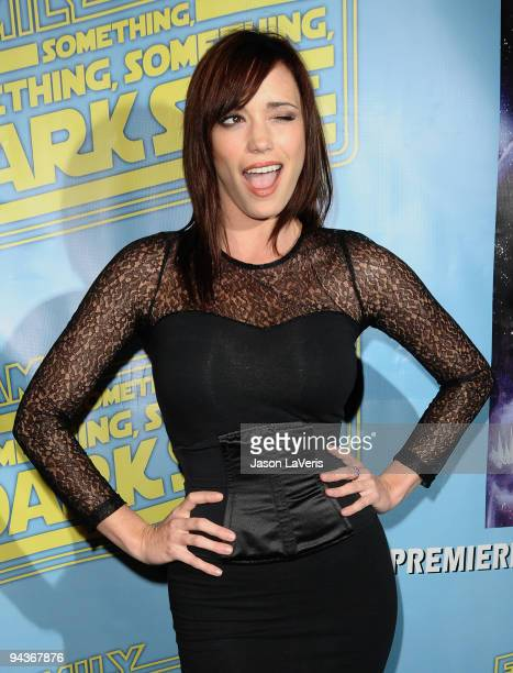 Jessica Sutta of the Pussycat Dolls attends the 'Family Guy Something Something Something Dark Side' DVD release party on December 12 2009 in Beverly...
