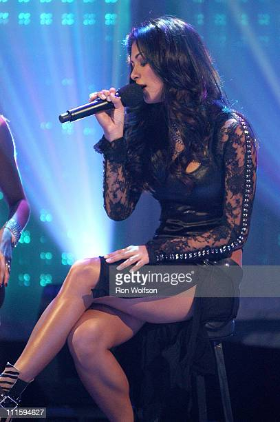 Jessica Sutta of The Pussycat Dolls during 'Dick Clark's New Year's Rockin' Eve 2006' PreTaping Day 1 at Center Staging in Burbank California United...