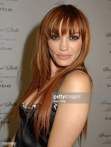 Jessica Sutta of The Pussycat Dolls poses at the launch of 'shhh' lingerie line by Robin Antin held at Bebe Rodeo Drive on December 3 2008 in Beverly...