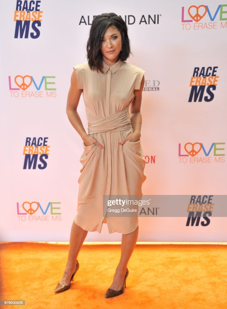 Jessica Szohr arrives at the 24th Annual Race To Erase MS Gala at The Beverly Hilton Hotel on May 5, 2017 in Beverly Hills, California.