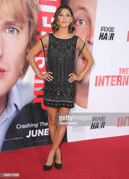 Jessica Szohr arrives at 'The Internship' Los Angeles Premiere at Regency Village Theatre on May 29 2013 in Westwood California