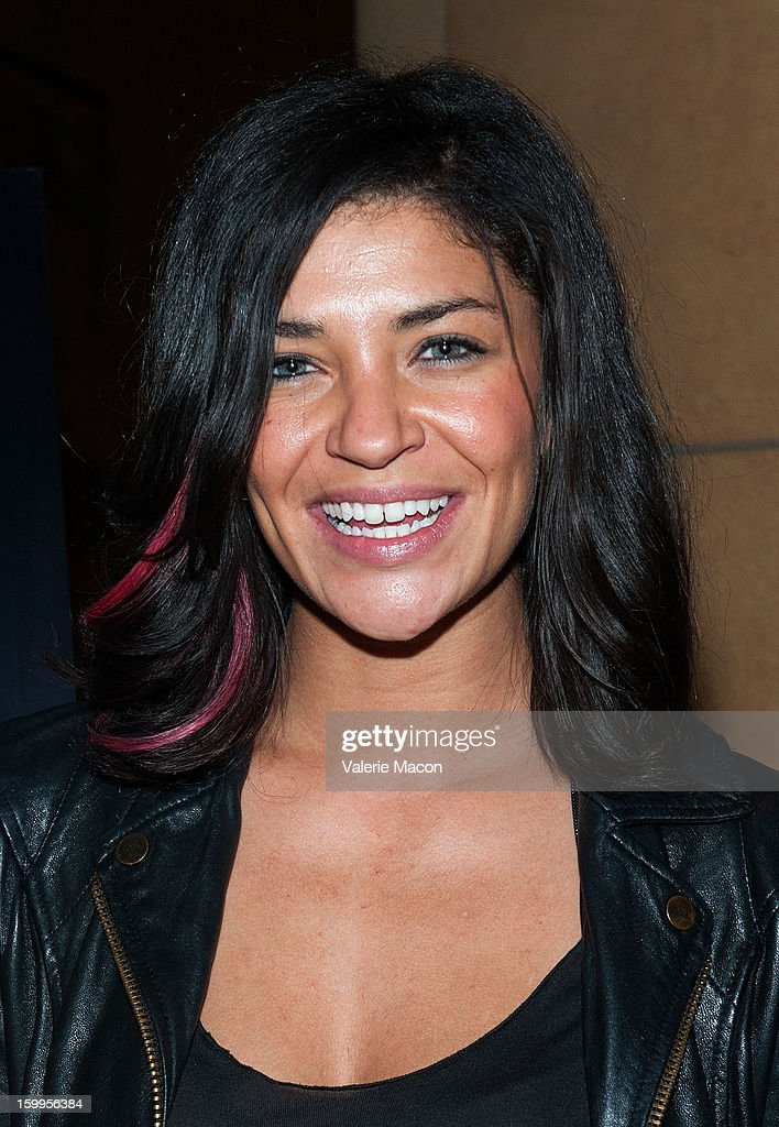 Jessica Szohr arrives at the screening of SnagFilms' 'Beware of Mr Baker' at the Egyptian Theatre on January 23 2013 in Hollywood California