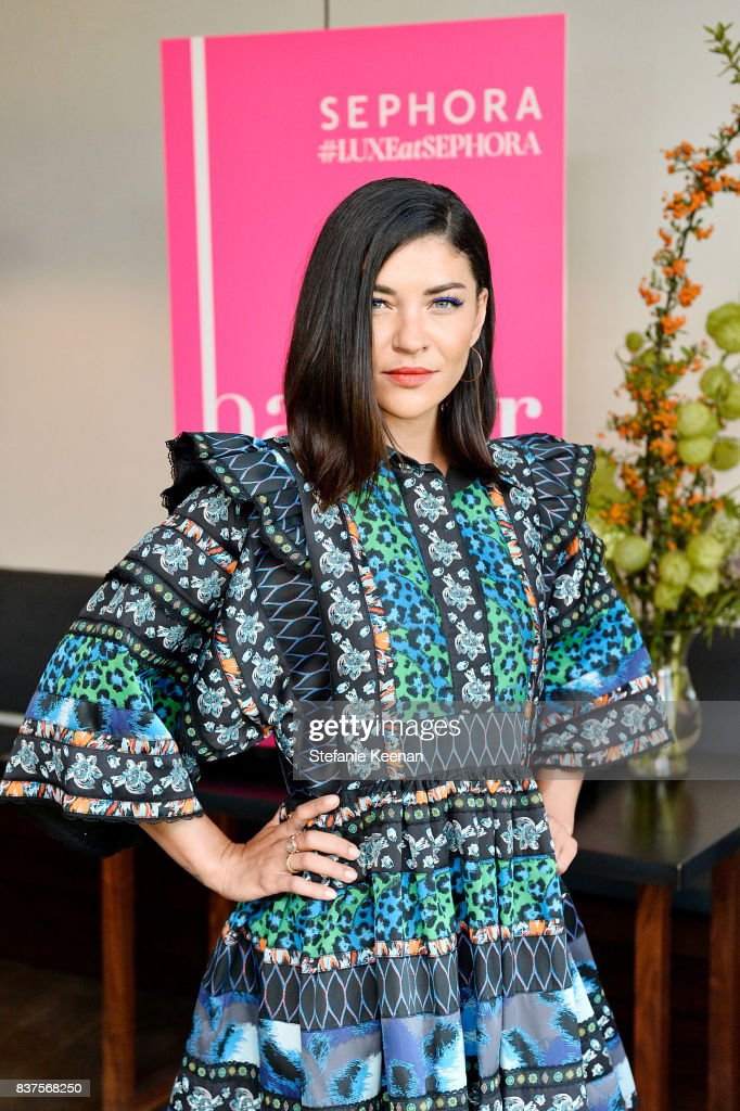 Jessica Szohr attends Nina Dobrev celebrates the harper by Harper's BAZAAR September Issue with an Event Presented By Sephora In LA at Rosaline on August 22, 2017 in West Hollywood, California.