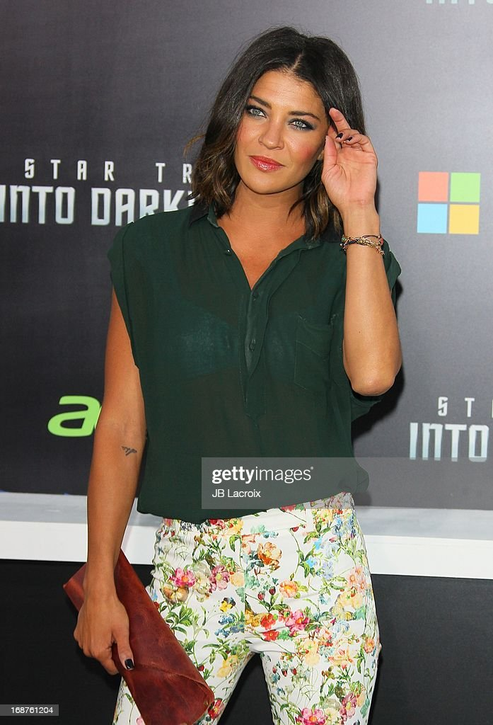 Jessica Szohr attends the Los Angeles premiere of 'Star Trek: Into Darkness' held at Dolby Theatre on May 14, 2013 in Hollywood, California.