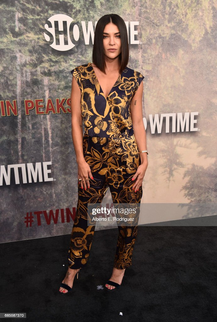 Jessica Szohr attends the premiere of Showtime's 'Twin Peaks' at The Theatre at Ace Hotel on May 19, 2017 in Los Angeles, California.