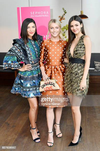 Jessica Szohr Julianne Hough and Victoria Justice attend Nina Dobrev celebrates the harper by Harper's BAZAAR September Issue with an Event Presented...