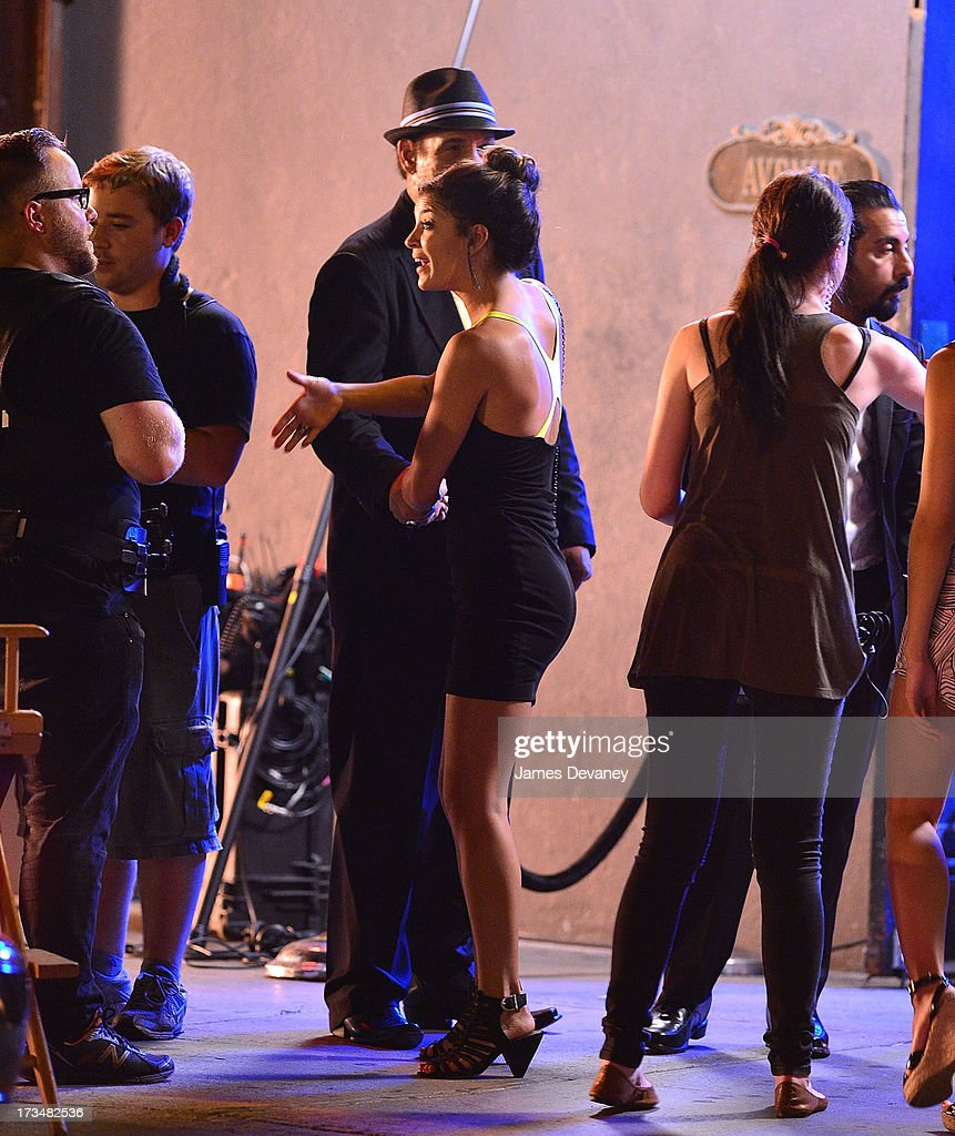<a gi-track='captionPersonalityLinkClicked' href=/galleries/search?phrase=Jessica+Szohr&family=editorial&specificpeople=4503387 ng-click='$event.stopPropagation()'>Jessica Szohr</a> seen on the set of 'The Life' on July 14, 2013 in New York City.