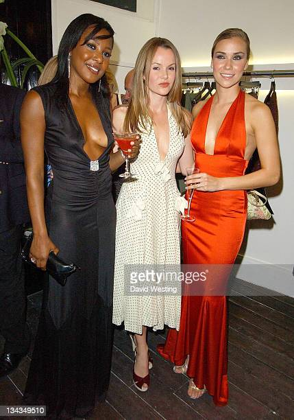 Jessica Taylor and Kelli Young from Liberty X Liberty X with Amanda Holden