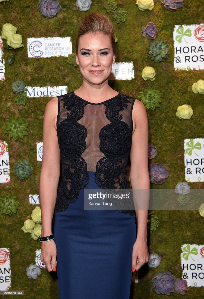 <a gi-track='captionPersonalityLinkClicked' href=/galleries/search?phrase=Jessica+Taylor&family=editorial&specificpeople=213327 ng-click='$event.stopPropagation()'>Jessica Taylor</a> arrives for The Horan And Rose event at The Grove on May 29, 2016 in Watford, England.