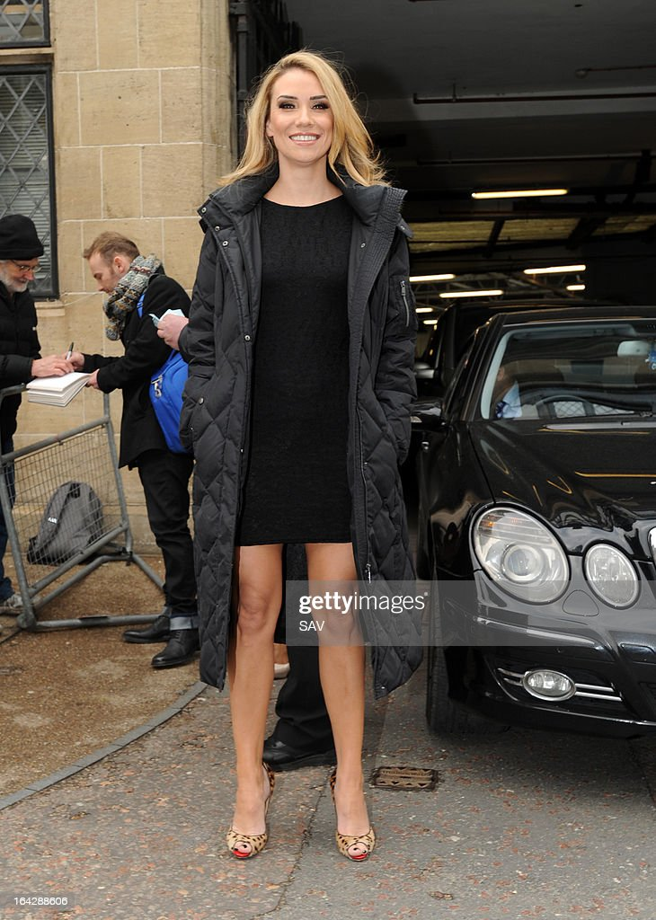 Jessica Taylor pictured at the ITV studios on March 22, 2013 in London, England.
