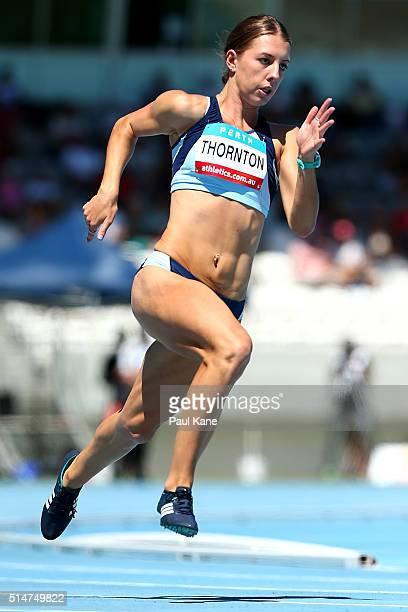 Jessica Thornton of New South Wales competes in the Women's 400 Metre u20 event during the Australian Junior Athletics Championships at the WA...