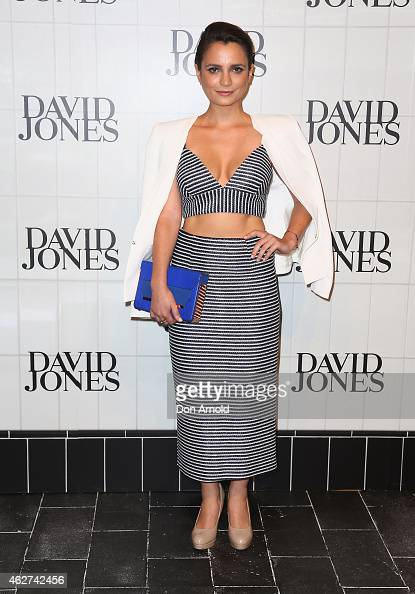 Jessica Tovey arrives at the David Jones Autumn/Winter 2015 Collection Launch at David Jones Elizabeth Street Store on February 4 2015 in Sydney...