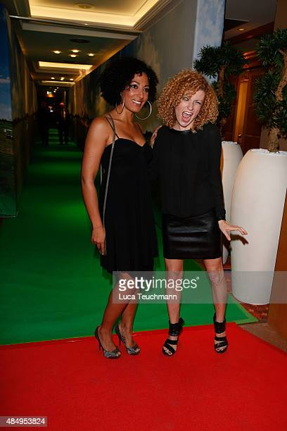 Jessica Wahls and Lucy Diakovska attend the 8th GRK Golf Charity Masters Leipzig gala at The Westin Leipzig on August 22 2015 in Leipzig Germany