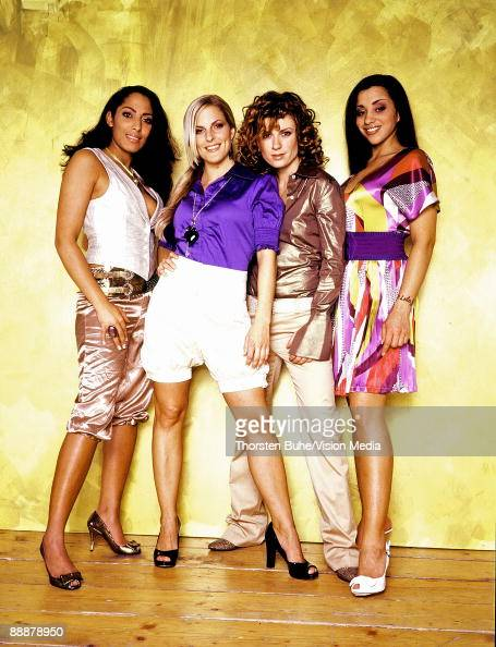 Jessica Wahls Sandy Moelling Lucy Diakowska and Nadja Benaissa of German band No Angels pose during a photo session on February 14 2007 in Berlin...