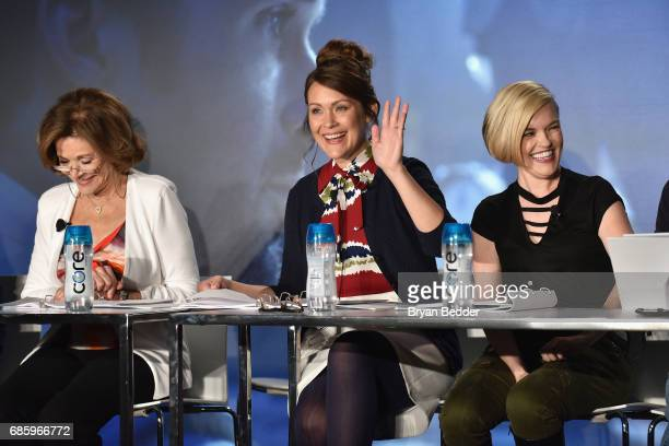 Jessica Walter Amber Nash and Kari Wahlgren speak onstage during Saturday Morning Cartoons in the ATT Studio at the 2017 Vulture Festival at Milk...
