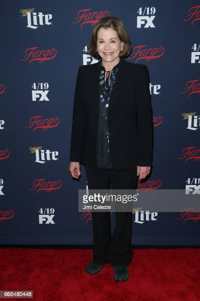Jessica Walter attends FX's 2017 Upfront at SVA Theater on April 6 2017 in New York City
