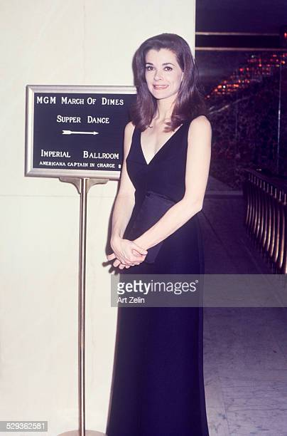 Jessica Walter in a black formal dress at the MGM March of Dimes dinner dance circa 1970 New York
