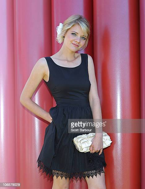 Jessica Watson attends Emirates Stakes Day at Flemington Racecourse on November 6 2010 in Melbourne Australia