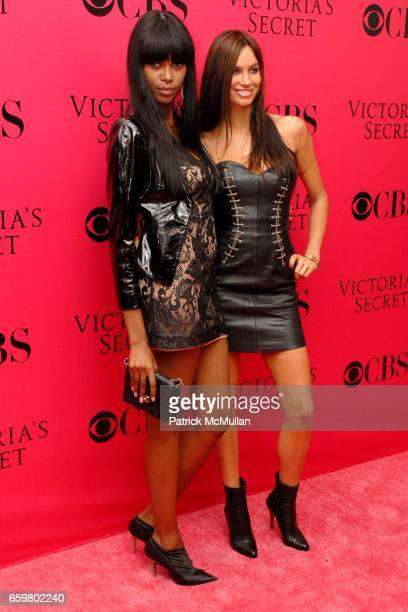 Jessica White and Alina Puscau attend 2009 VICTORIA'S SECRET Fashion Show Pink Carpet Arrivals At The Lexington Armory on November 19 2009 in New...