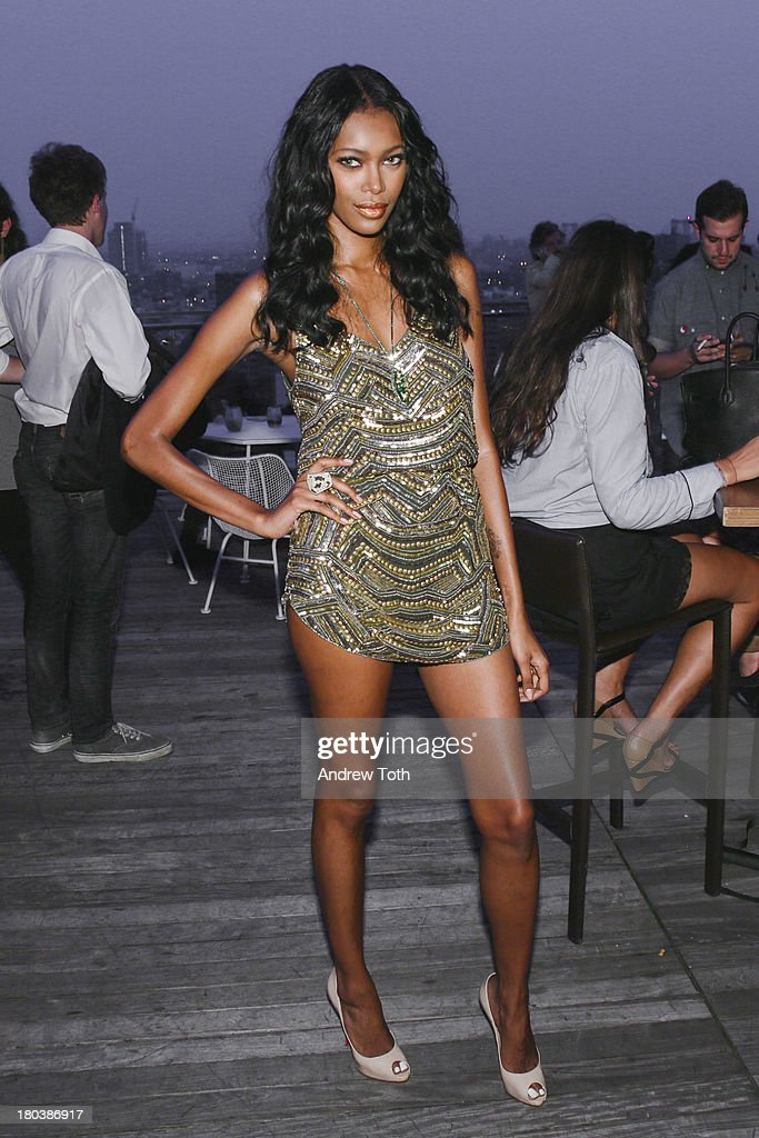 <a gi-track='captionPersonalityLinkClicked' href=/galleries/search?phrase=Jessica+White&family=editorial&specificpeople=220742 ng-click='$event.stopPropagation()'>Jessica White</a> attends the Daniel Ashram And Pharrell Williams Fashion Week Party at The Standard East Village on September 11, 2013 in New York City.