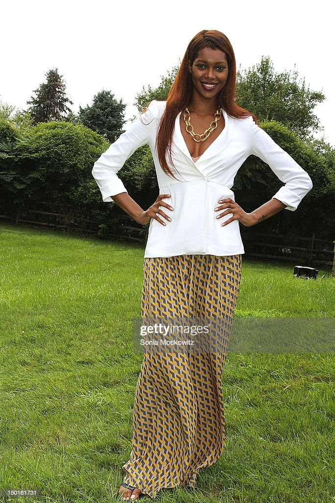 Jessica White attends the EleVen by Venus Williams party on August 11, 2012 in Southampton, New York.