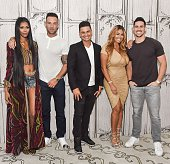 Jessica White Calum Best Pauly D Somaya Reece and Josh Murray attend AOL Build to discuss 'Famously Single' at AOL Studios on June 9 2016 in New York...