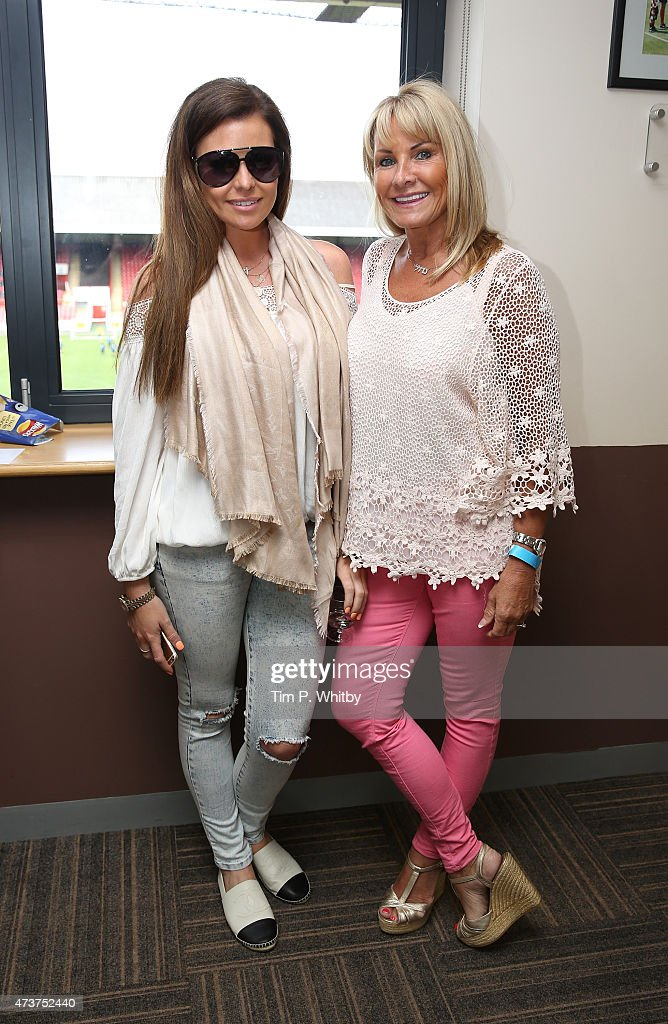 Jessica Wright and Carol Wright attend a Charity football match in aid of St Joseph's Hospice and Haven House Children's Hospice at Leyton Orient Matchroom Stadium on May 17, 2015 in London, England.