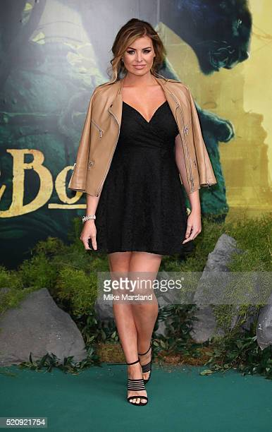 Jessica Wright arrives for the European premiere of 'The Jungle Book' at BFI IMAX on April 13 2016 in London England