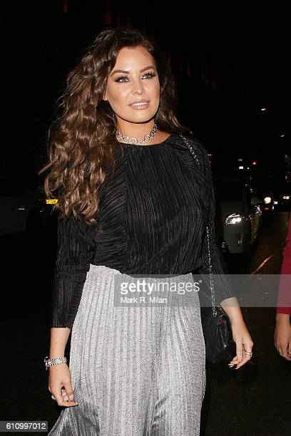 Jessica Wright at Nobu Berkeley Street for the Lipsy party on September 28 2016 in London England