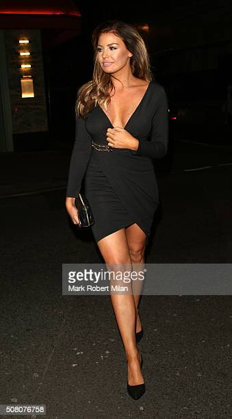Jessica Wright at Sexy Fish restaurant on February 2 2016 in London England