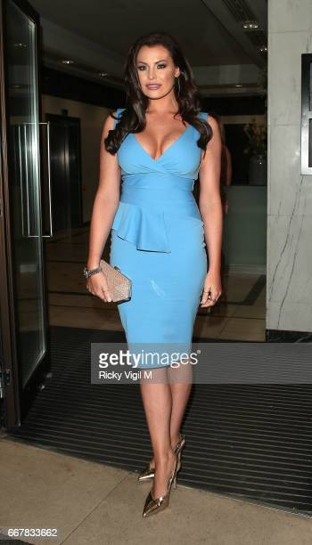 Jessica Wright attends James Ingham's JogOn to Cancer part 5 at Kensington Roof Gardens on April 12 2017 in London England