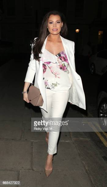 Jessica Wright attends New Look pool party at The Haymarket Hotel on April 6 2017 in London England